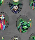 Nightmare Before Christmas Halloween Cotton Fabric-Badges