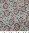 Quilter\u0027s Showcase Cotton Fabric-Floral Pinwheel Coral Gray