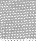 Quilter\u0027s Showcase Fabric -Triangle Geometric on Light Gray