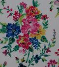Silky Stretch Crepe Fabric 57\u0022-Multi Bouquets