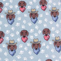 Anti-Pill Plush Fleece Fabric-Southwest Pup Faces