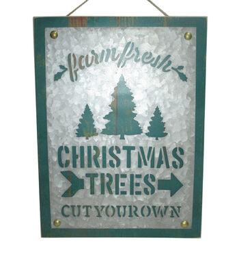 Maker's Holiday Christmas Wall Decor-Green Farm Fresh Christmas Trees