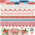 Kaisercraft Key To My Heart Cardstock Stickers Words & Borders