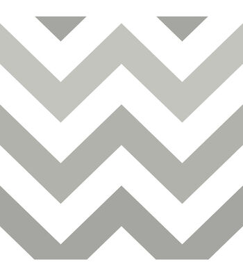 WallPops NuWallpaper Peel & Stick Wallpaper-Gray Zig Zag