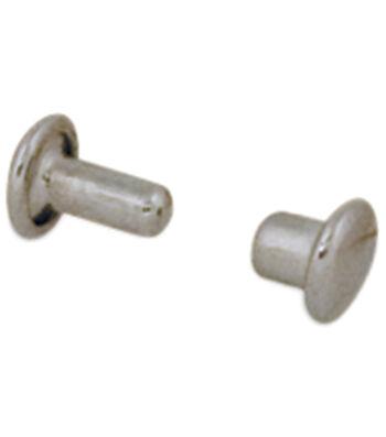 "Neat Mini Double Cap Rivets .1875"" 100/Pkg-Nickel Plated"