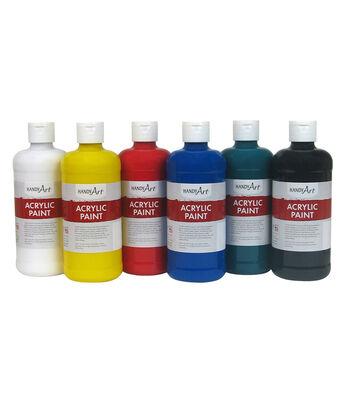 Handy Art Acrylic Paint, 16 oz., Set of 6
