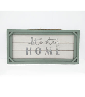 Simply Spring 16.97'' Wall Decor-Let's Stay Home