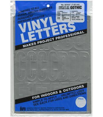 Duro 160pcs Permanent Adhesive Vinyl Letters & Numbers