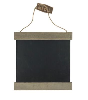 Rustic Wood 12X12'' Hanging Chalkboard