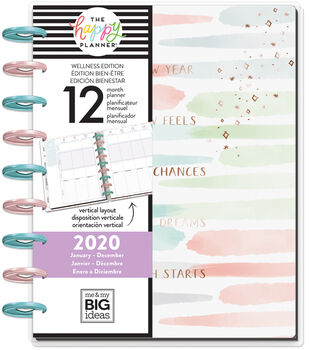 The Happy Planner Classic 2020 Dated Planner-Be Well