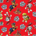 Nick Junior Paw Patrol Cotton Fabric -Tossed