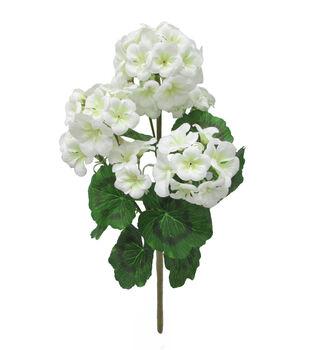 Faux flowers floral stems sprays joann fresh picked spring 185 geranium bush white mightylinksfo