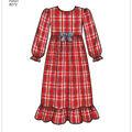 Simplicity Pattern 8272 Children\u0027s/Girls\u0027 Sleepwear-Size K5 (7-14)