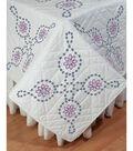 Fairway Needlecraft 6 pk 18\u0027\u0027x18\u0027\u0027 Stamped Quilt Blocks-Floral
