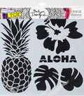 Crafter\u0027s Workshop Julie Fei-Fan Balzer Template 12\u0027\u0027x12\u0027\u0027-Aloha