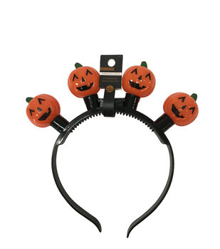 Halloween Pumpkin Headband with Flashing Lights