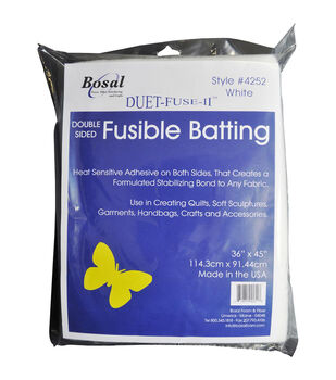 Bosal Duet-Fuse-II Double-Sided Fusible Batting-36''X45''