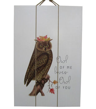 Simply Autumn Wall Decor-Owl of Me Loves Owl of You