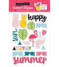Summer Fun Adhesive Enamel Shapes