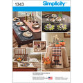 Simplicity Pattern 1343OS One Size -Crafts Crafts