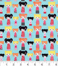 Snuggle Flannel Fabric 42\u0022-Multi Sized Dolls