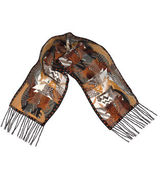 Laurel Burch Scarves-Moroccan Mares with Fringe