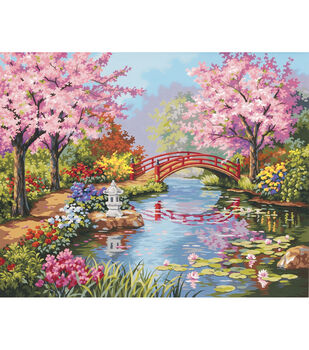 """Dimensions 20""""x16"""" Paint By Number Kit-Japanese Garden"""