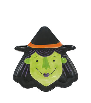Maker's Halloween Ceramic Witch Head Serving Plate