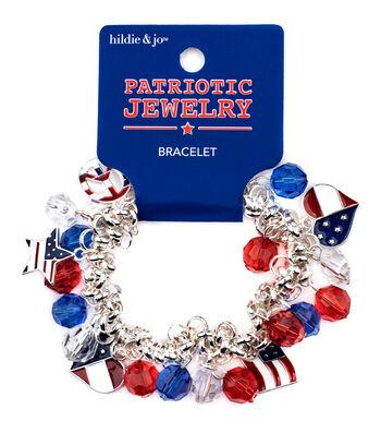 hildie & jo Patriotic Jewelry Charm Bracelet