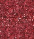 Keepsake Calico Glitter Cotton Fabric-Burgundy Sponge Paint