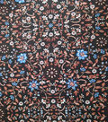 Downtown Collective Crepe Fabric 57\u0022-Floral Vines on Black