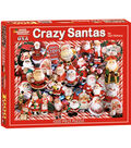 White Mountain Puzzles Jigsaw Puzzle Crazy Santas