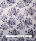 Satin Fabric 57\u0022-Black & White Print
