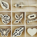 Themed Mini Wooden Flourishes-Bouquet