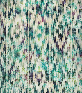 "Indian Batiks Cotton Fabric 44""-Multi Blue Aztec Geometrics"