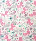 Anti-Pill Plush Fleece Fabric-Pastel Unicorn