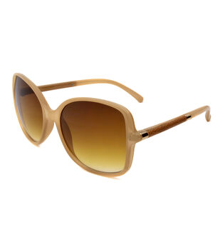 Sunglasses with Square Frame-Lush Bone Milky