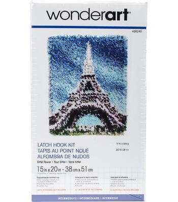 "Wonderart Latch Hook Kit 15""X20""-Eiffel Tower"