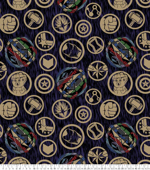 Marvel Fleece Fabric-Avengers Icons