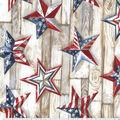 Christmas Cotton Fabric-Patriotic Texas Stars