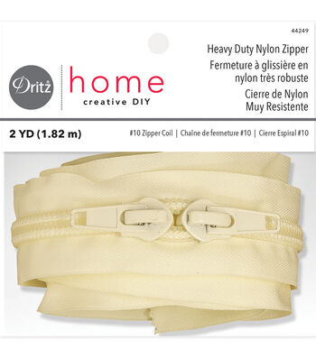"""Dritz Home Heavy Duty Nylon Zipper Beige 72"""""""
