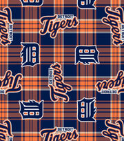 Detroit Tigers Fleece Fabric -Plaid, , hi-res