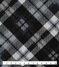 Keepsake Calico Cotton Fabric-Distressed Black Plaid
