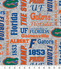 Florida Gators Fleece Fabric-Heather Verbiage