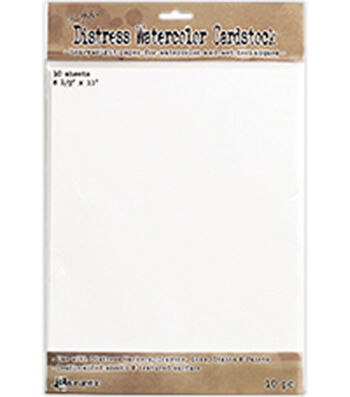 "Tim Holtz Distress Watercolor Cardstock 10/Pkg-8.5""X11"""