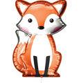 Fox Mylar Balloon with Ribbon