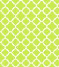 Modkid Studio by Patty Young Cotton Fabric-Quatrefoil Citron