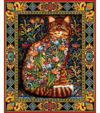 "White Mountain 1000 Piece Jigsaw Puzzle 24""X30""-Tapestry Cat"