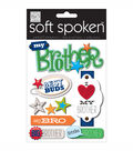 Soft Spoken Themed Embellishments-I Heart My Brother