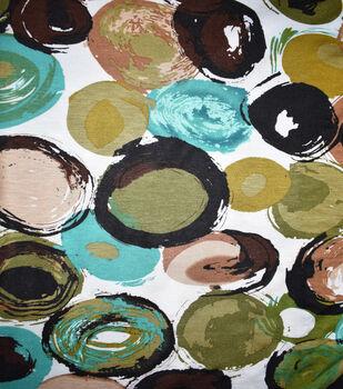 Fast Fashion Rayon Spandex Fabric-Tan & Teal Dots